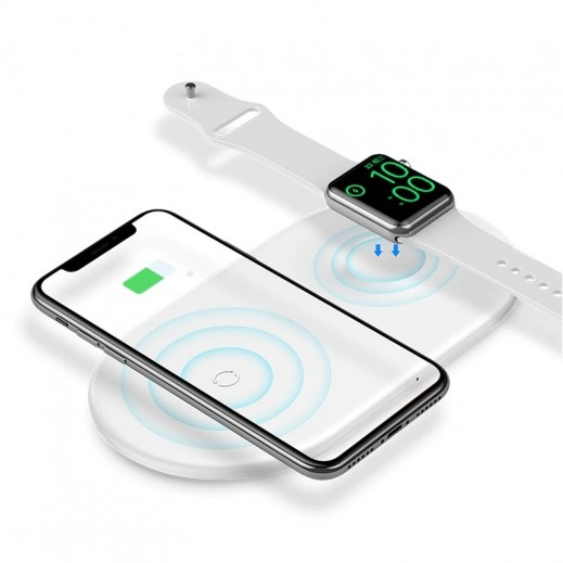 Wireless Charger Baseus 3Y 2-in-1 (White)