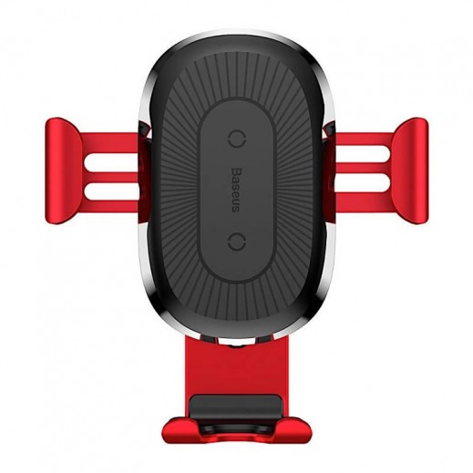 Wireless Charger Baseus Gravity Car Mound (Air Outlet Version) 1.67A  10W Red