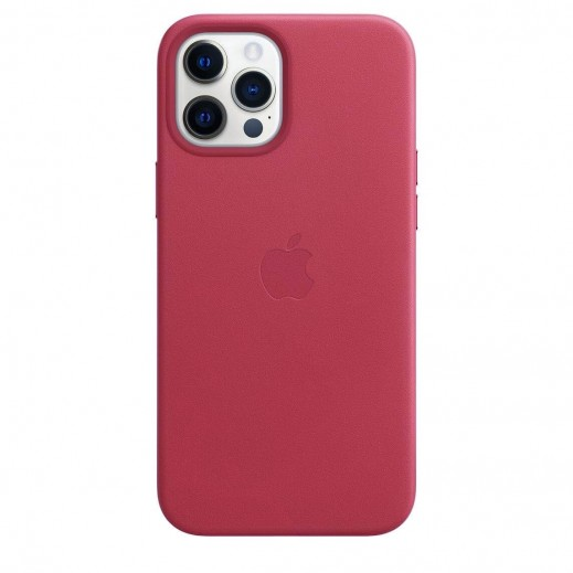 Leather Case iPhone 12 Pro Max Rose Red