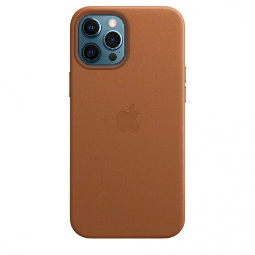 Leather Case iPhone 12 Pro Max Sadle Brown