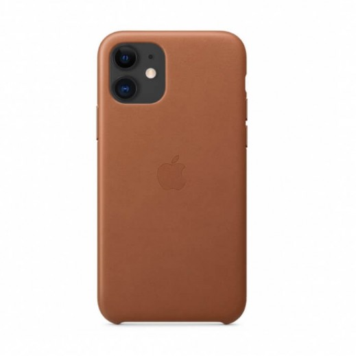 Leather Case iPhone 11 Saddle Brown