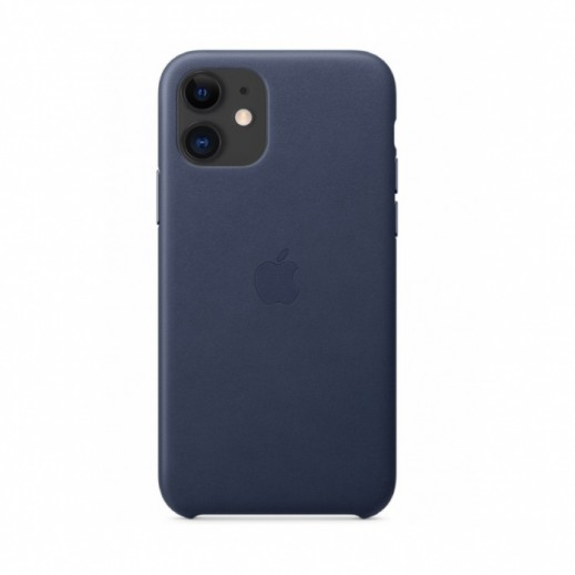 Leather Case iPhone 11 Midnight Blue