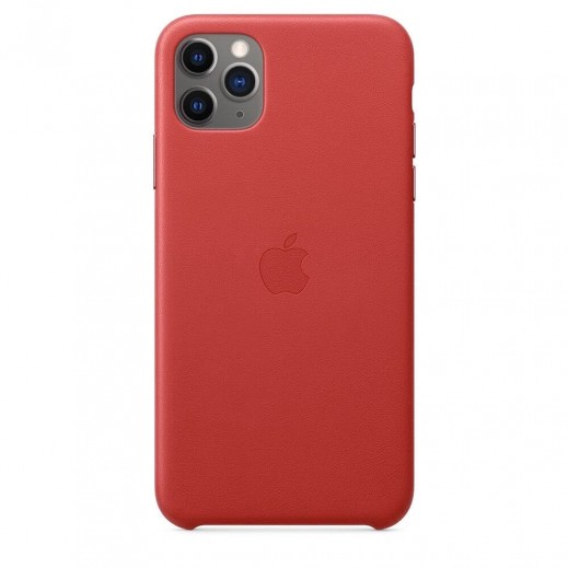 Leather Case iPhone 11 Pro Max Red