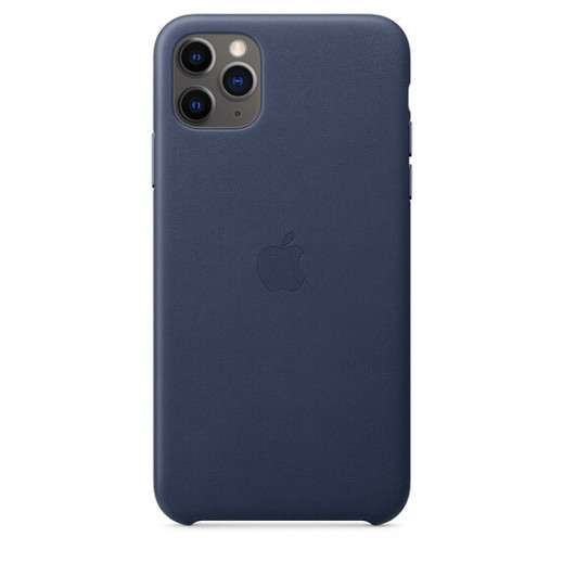 Leather Case iPhone 11 Pro Max Midnight Blue