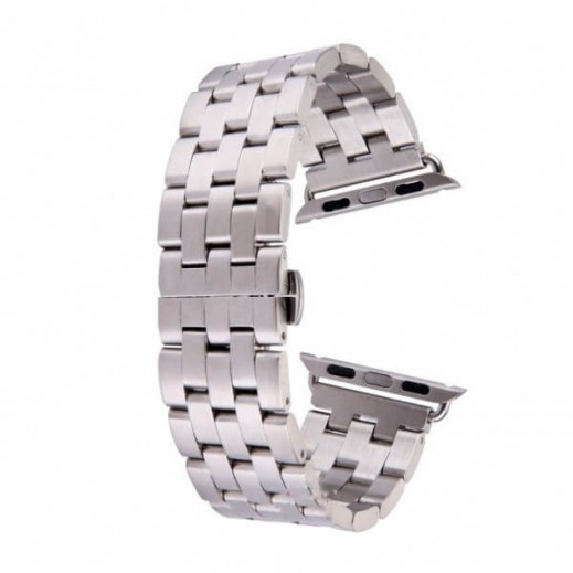 Curelușă  Watch Band 5-Bead (size:42) Silver
