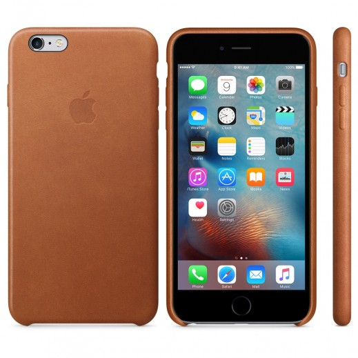 Apple Leather Case iPhone 6/6s Plus Brown