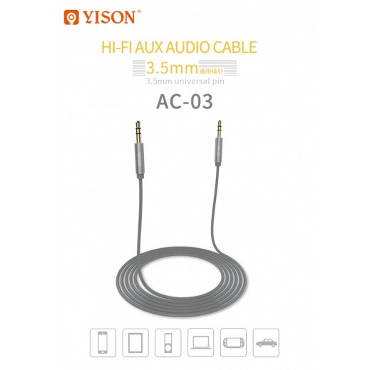 AUX Cable Yison AC-03 (Gray)