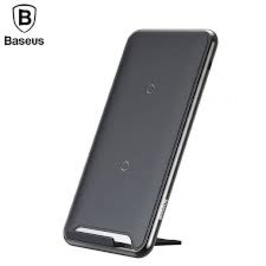Wireless Charger Baseus Charging Pad with Desktop Holder 10W + Type-C Cable / Black